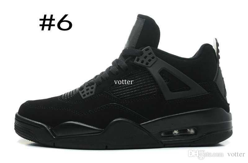 Hommes 4 IV Basketball Chaussures Noir Rouge Oreo Pure Money Blanc Ciment 4s Sports Basket Ball Athlétique Baskets Taille US 8-13