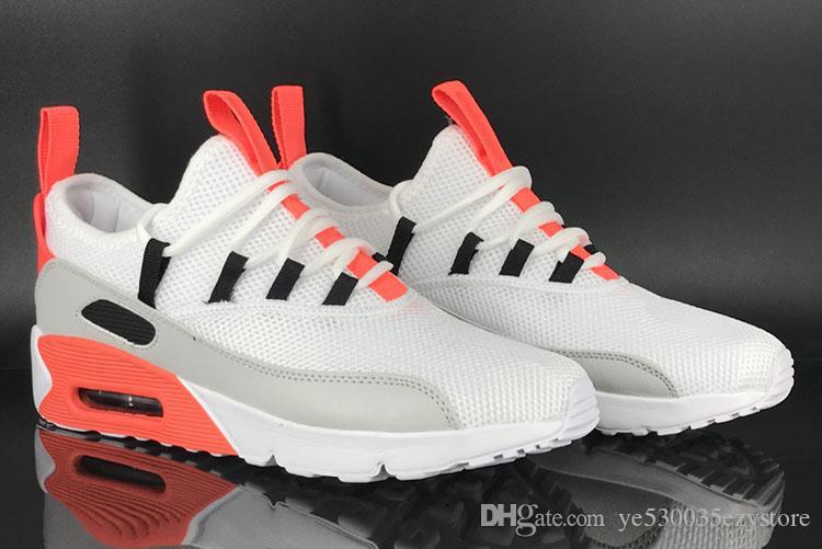 online store 73f74 eaf33 Acheter Nike Air Max Airmax 90 EZ 2018 Nouveau 90 EZ Presto Chaussures De  Course Pour Hommes, Respirant Mesh Gris Rouge Blanc Noir Coussin Sports De  Plein ...