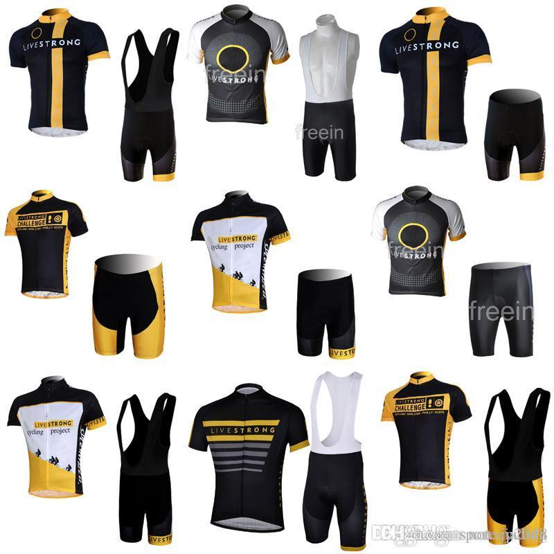 LIVESTRONG Cycling Short Sleeves Jersey Bib Shorts Sets Summer Mountain  Bike Men S Cycling Clothing Fashion Dry Comfortable Clothes C Bike Apparel  Best Bib ... 0ada05289