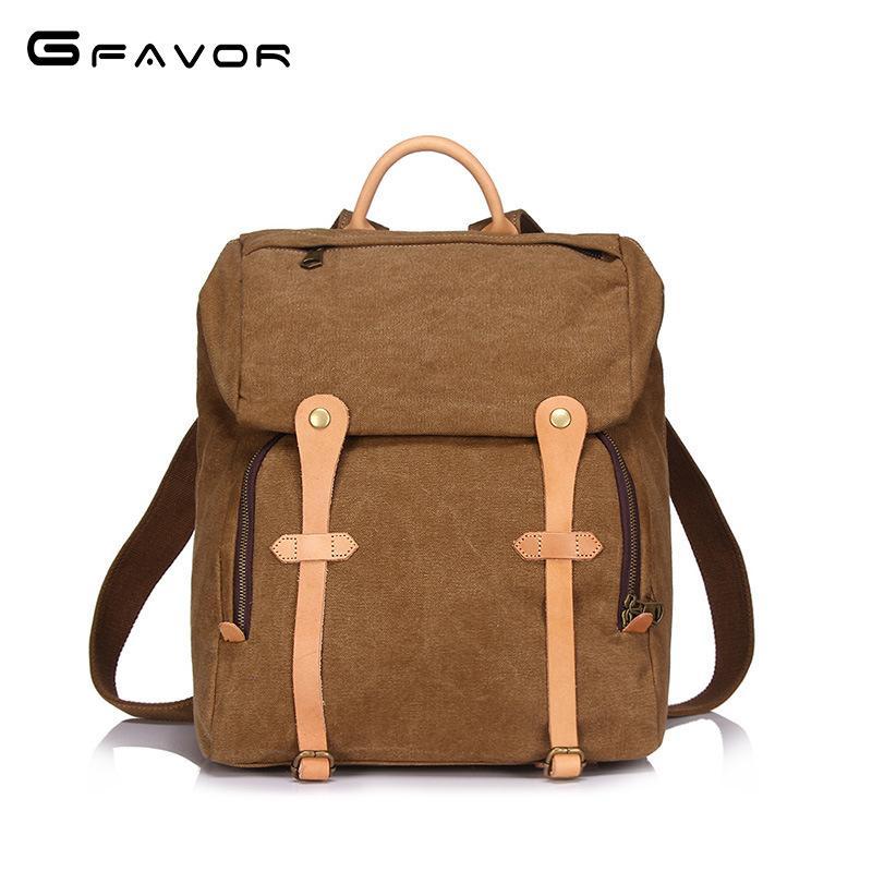 2018 New Boys School Bags Vintage Fashion Casual Large Capacity ... b6c595fb1f13a
