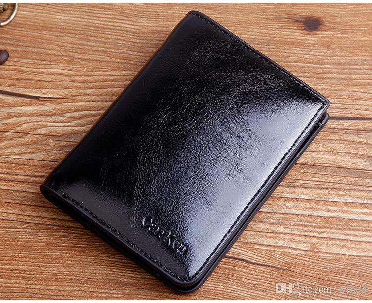 2018 Brand New Mens High Quality Cowboy Leather Wallet Pockets Card Holders Cente Bifold Cowhide Purse Vintage For Man Purse 2018051417