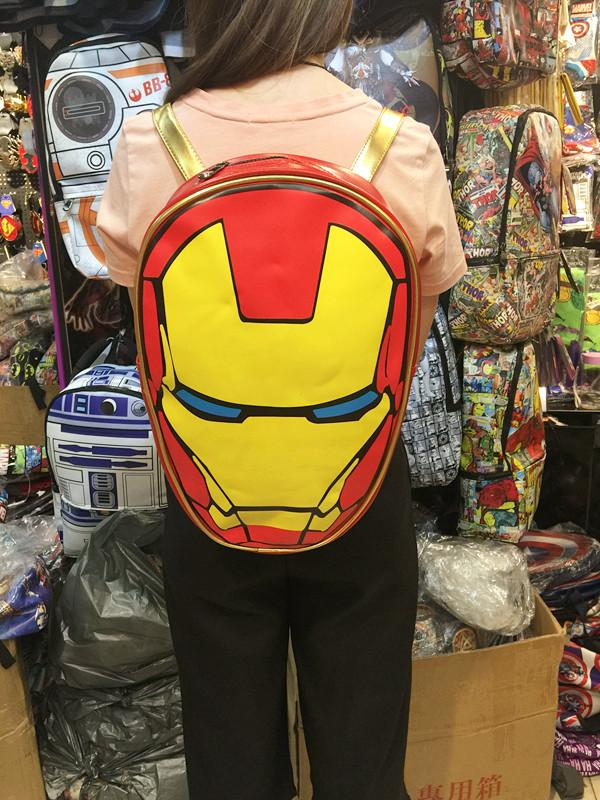 80de7429be8 Compre 2018 Mochila Feminina Mochilas Escolares Para Mochilas Iron Man  Mochila Para Hombros Estudiantes Marvel Difusa Auténtica Para Hombres Y  Mujeres A ...