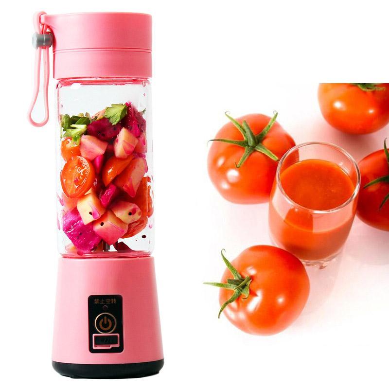 380 미리리터 개인 믹서기 여행 컵 USB 휴대용 전기 과즙 믹서기 충전식 과즙 병 과일 야채 주방 도구 WX9-374