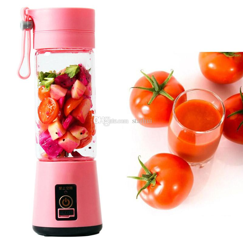 Licuadora personal 380ML con taza de viaje USB Licuadora eléctrica portátil Licuadora recargable Botella de frutas y verduras Utensilios de cocina WX9-374