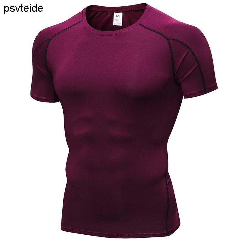 Clothing, Shoes & Accessories Mens Compression Gym Fitness Sport Quick Dry T Shirt Casual Stretch Workout Top Good Heat Preservation Shirts
