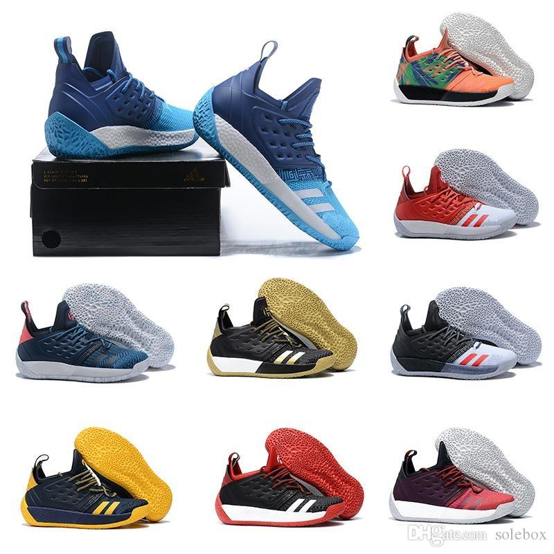 7479c0130ad8 2019 2018 High Qualityl James Harden Vol 2 Basketball Shoes Black White Grey  Mens Harden Vol.2 Sneakers For Sale 7 11.5 From Solebox