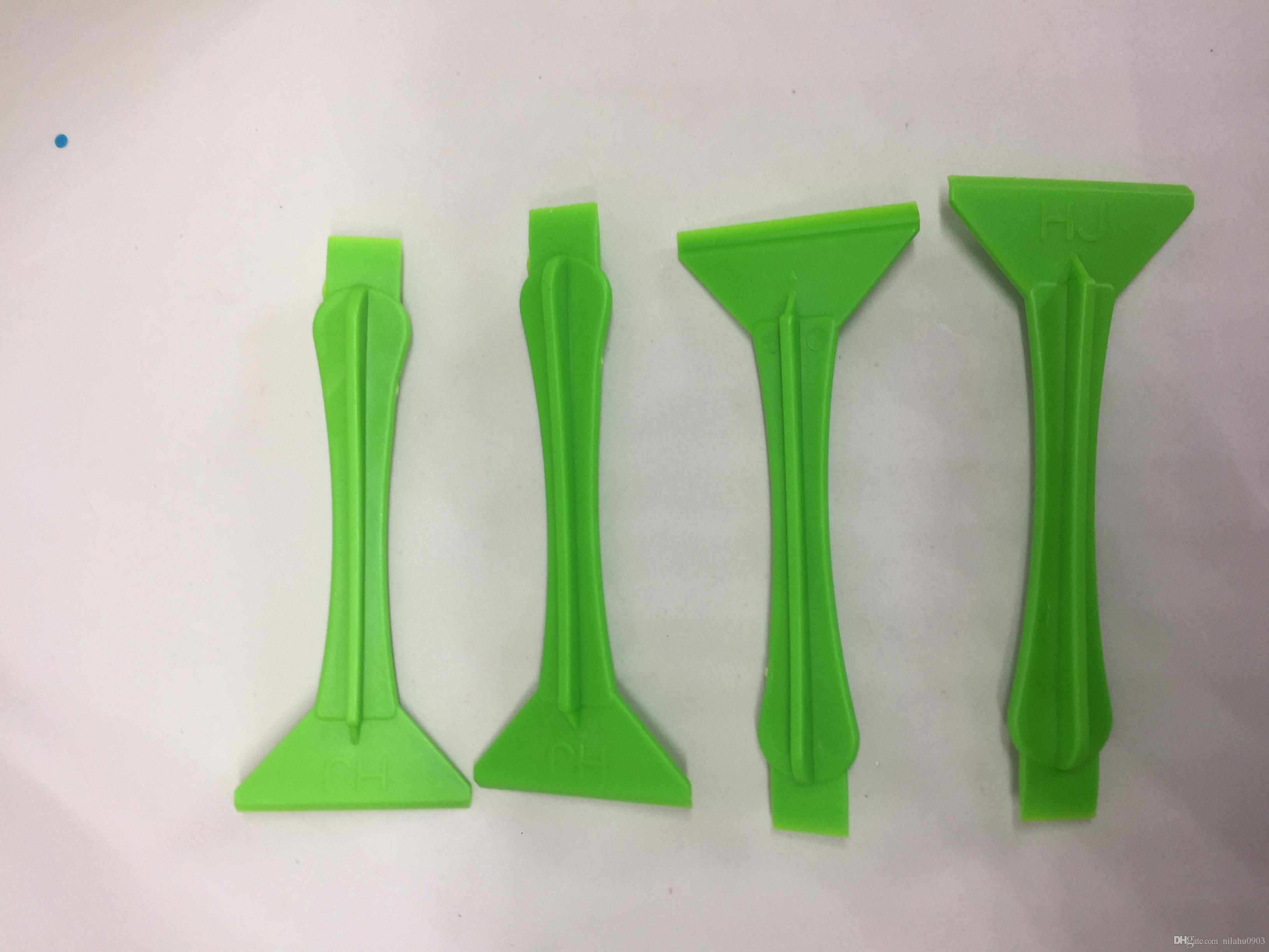 Telefone removendo plástico ferramenta de limpeza para polarizador OCA film Removal removedor de cola UV líquido raspador para reparação móvel