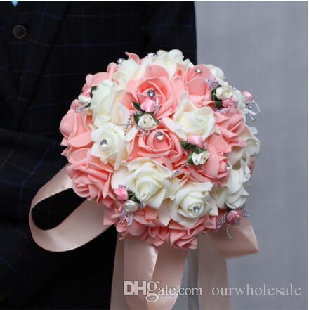 Grosshandel Hochzeit Blumen Brautstrausse Koreanisches Band Halt Die