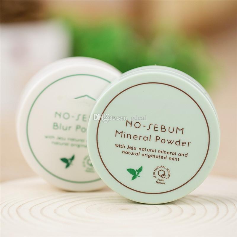 Marca famosa de Corea Innisfree Sin sebo Mineral Powder + Blur Powder Control de aceite Loose Powder Makeup Setting Foundation 5g 200
