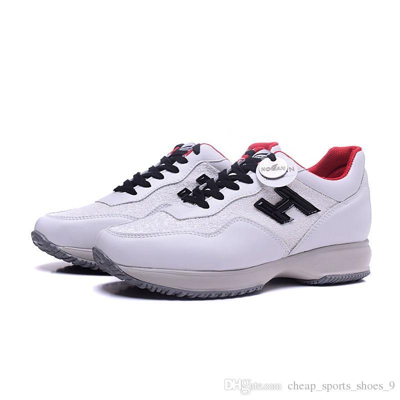 4dc2abc64f6 Women Hogans Sneakers White Leather Fashion Shoes Designer Glitter ...