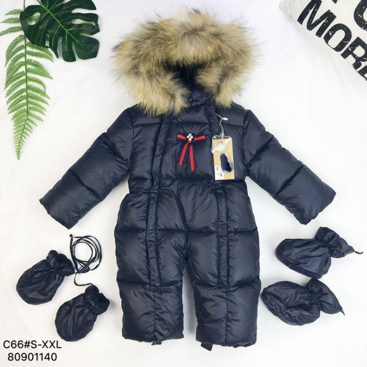 8ce9e6d68f9 Newborn kids romper baby girls stripe Bows tie thicken warm outwear boys  faux fur collar hooded long sleeve out wear jumpsuits F2264