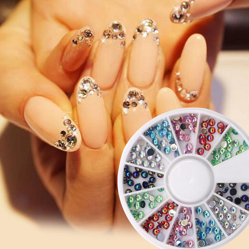 Christmas 3d Nail Art Decorations Glitter Crystal Rhinestones