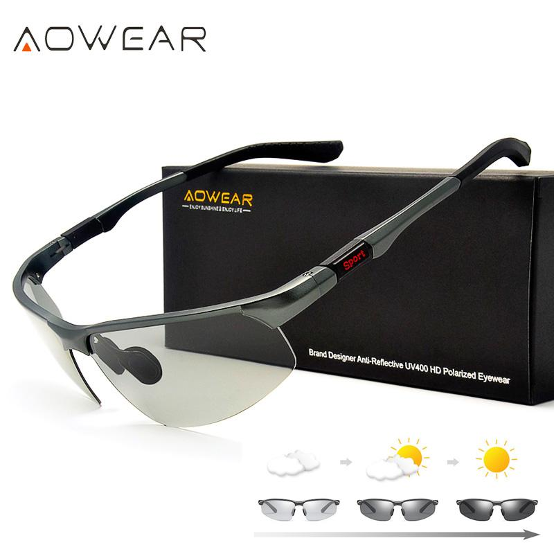 374bf2b7ac8 AOWEAR Photochromic Sunglasses Men Polarized Chameleon Glasses Male Change  Color Sun Glasses HD Day Night Vision Driving Eyewear Sunglass Cheap  Sunglasses ...
