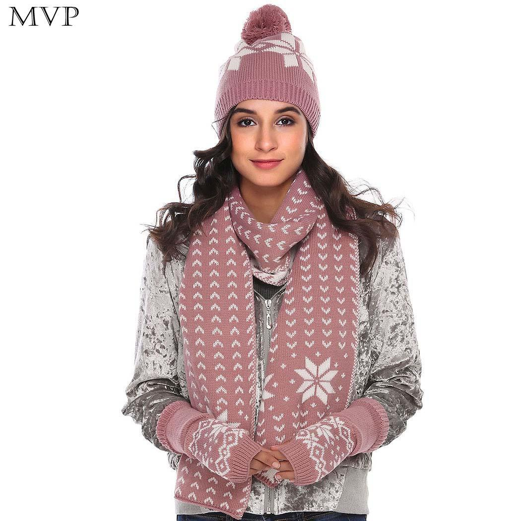Compre Chal Cuello Set Mujeres Bufanda Guantes De Punto De Abrigo Largo  Sombrero De La Estola Caliente A  17.15 Del Home163  bbbad41db08