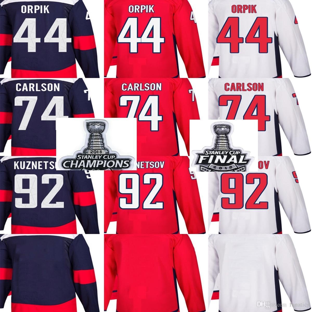 2019 Cheap 2018 Stanley Cup Champions Final Men Washington Capitals Brooks  Orpik John Carlson Evgeny Kuznetsov Blank Red Custom Hockey Jerseys From  Fanatics ... 0d4e8f04a