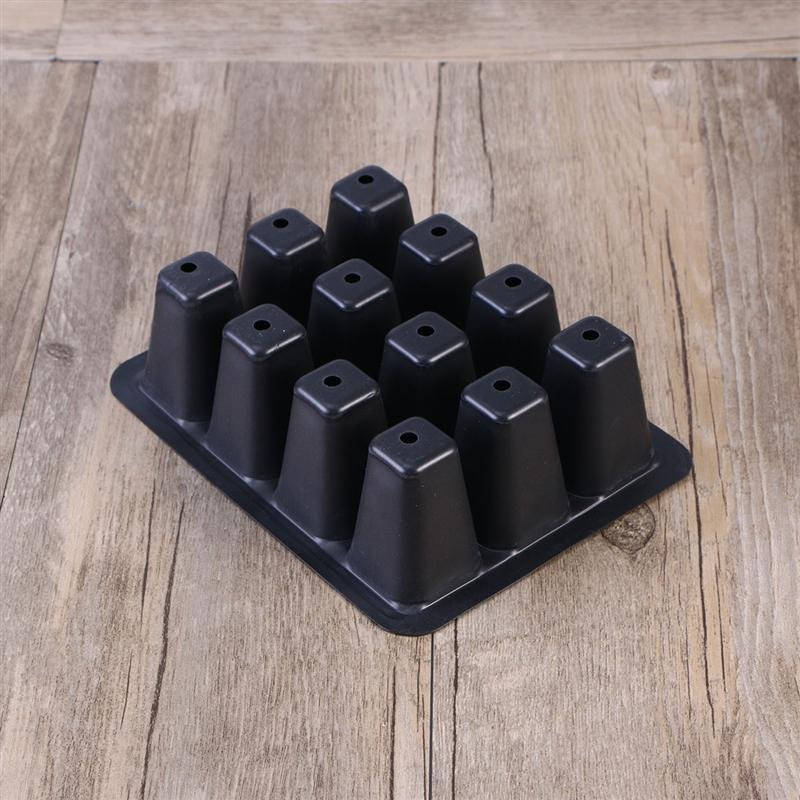 Seedling Tray Sprout Plate 12 Cavity Nursery Pots Tray Lids Box for Gardening Bonsai 18x14x6CM
