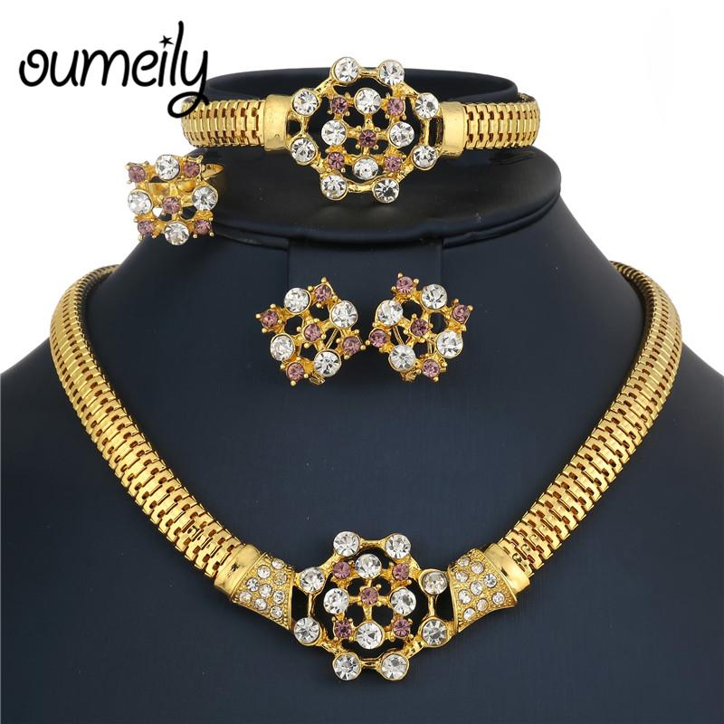 2018 Oumeily Ethiopian Wedding Jewelry Sets Gold Color African