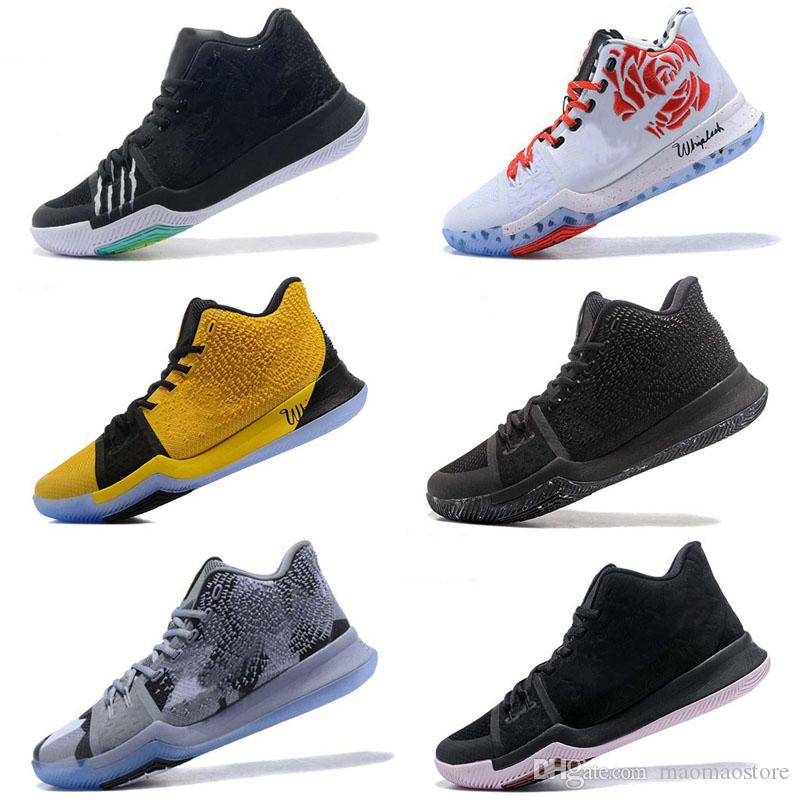 new styles e46ab 0d395 New Kyrie Irving 3 Basketball Shoes for Cheap Sale Sneakers Sports Mens  Shoe Wolf Grey Team Red Outdoor Trainers BasketBall Boots