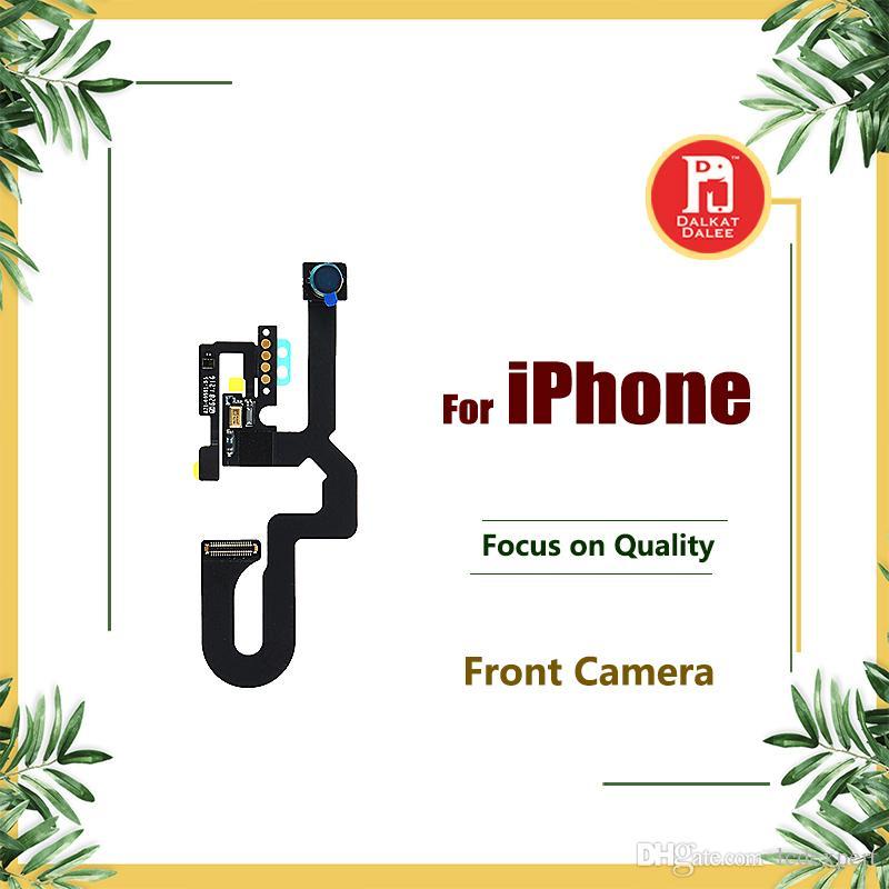 Frente pequena câmera para iphone 5 5s 5c se 6 plus 6 s 6 s mais 7 8 plus x sensor de proximidade luz flex substituição