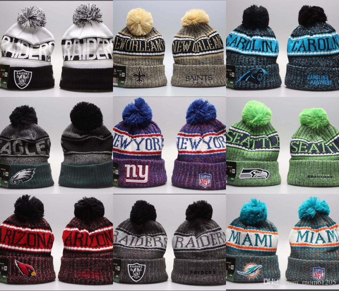 78083c71a94 2019 Wholesale Cheap Winter Beanie Knitted Hats All 32 Teams Football  Beanies Cap Sports Team Women Men Popular Fashion Winter Skull Hat Stetson  Hats Trilby ...