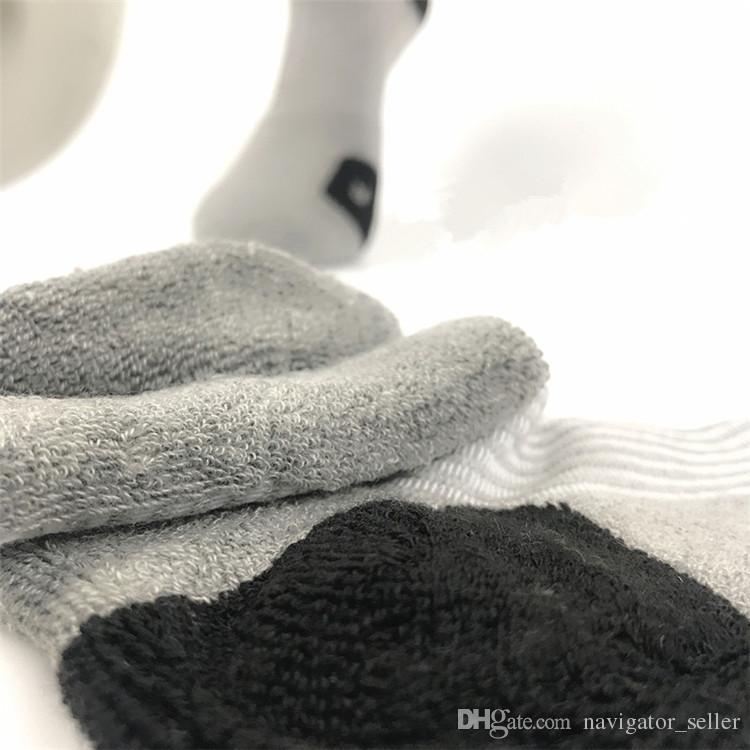 패션 프로 한정판 엘리트 농구 중간 양말 무릎 운동 스포츠 양말 남자 압축 열전달 겨울 양말