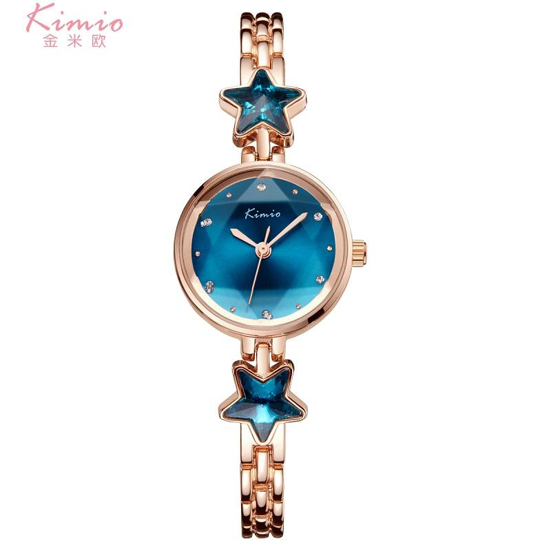 montre Ladies Orologio a tempo limitato 2018 Kimio Brand Bracciale orologi per donna Diamond Jewel Girl Acciaio inossidabile quarzo saat