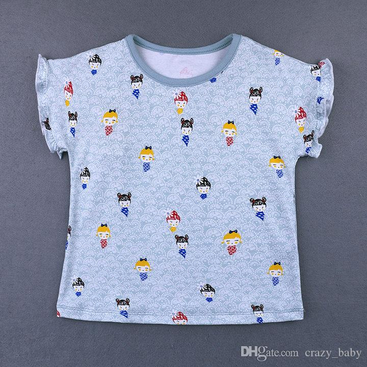 Girls T-shirt Kids Baby Girls Clothes Printing T-shirt Child Toddler Girl Tops T-shirts Summer
