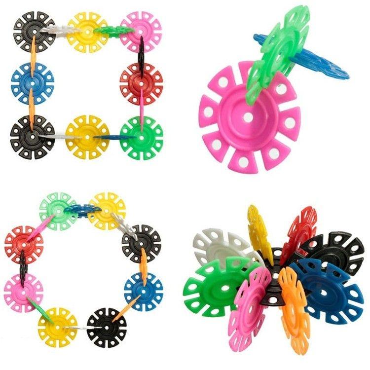 Con instrucciones 3D Puzzle Plastic Snowflake Building Blocks Juguetes educativos para niños bellamente empaquetados