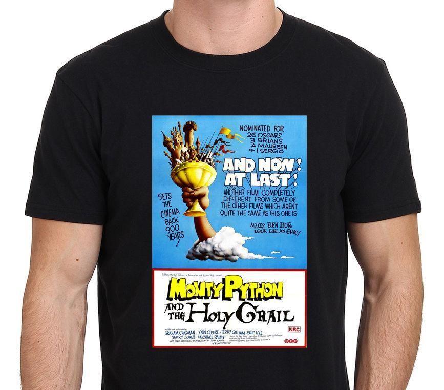 7cd5bdf64 Monty Python & The Holy Grail 80's Vintage Movie Poster Men's T-Shirt S-XXL