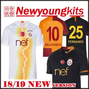 2019 2018 19 Galatasaray Third Soccer Jersey 18 19 Away Black White Football  Uniforms CIGERCI BELHANDA FERNANDO FEGHOULI Soccer Shirt From Newyoungkits 3a9668d7c