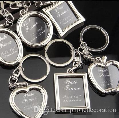 6 Models Photo Frame Keychain Alloy Locket Lover Picture Key Chain ... 3c244d408