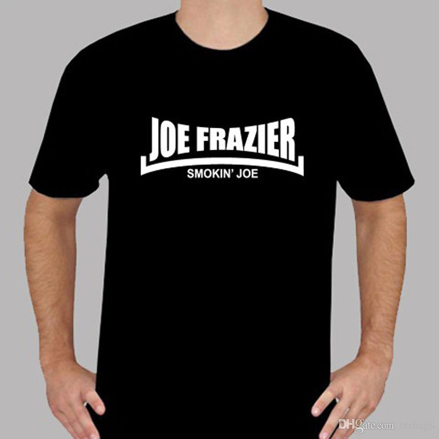 2baef5a09865 New Joe Frazier Smokin' Joe Boxing Legend Men'S Black T Shirt Size S To 3XL  Awesome Shirts Cool T Shirts For Men From Teeclub, $10.65| DHgate.Com