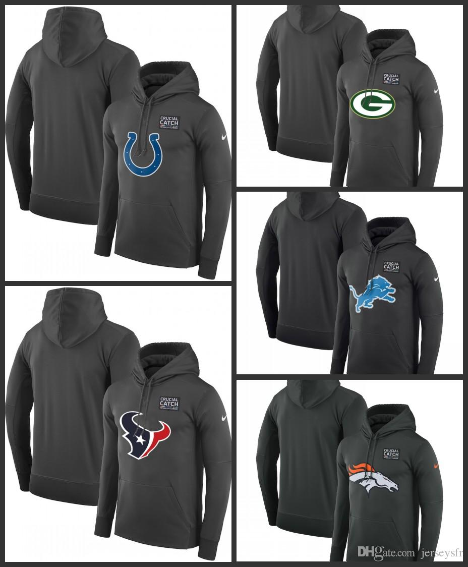 brand new 1814d d8456 Mens Indianapolis Colts Houston Texans Green Bay Packers Detroit Lions  Denver Broncos Crucial Catch Performance Hoodie