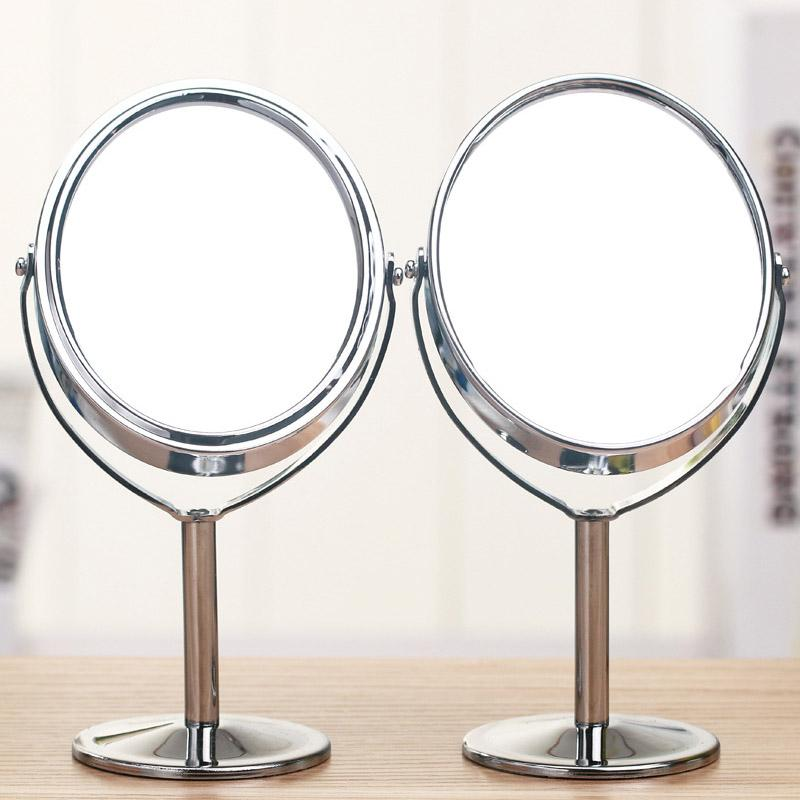 Metal Magnify Makeup Mirror Professional Personalized desktop Table Mirror Women Dressing Beauty Double Sided Stand