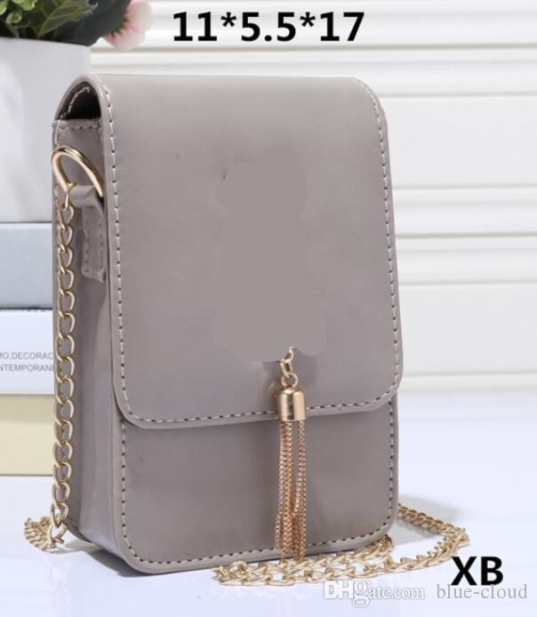 Luxury Women Designer Shoulder Bags pu Leather gold chains mini Cell Phone cross body bag purse bag ys2713