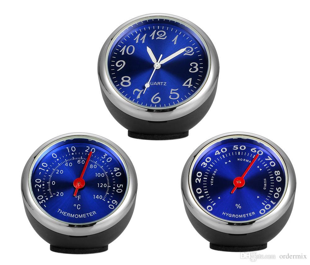 Auto Ornament Automotive Uhr Auto Uhr Thermometer Hygrometer Home Automobile Innendekoration Uhr In Autozubehör