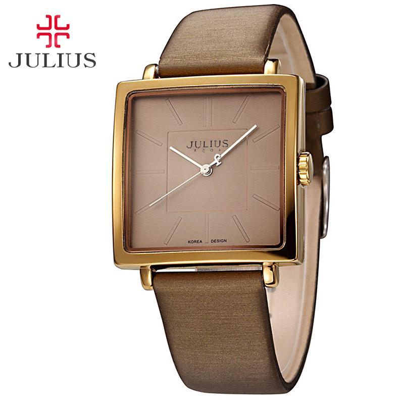 Top Julius Lady Women S Wrist Watch Elegant Simple Square Fashion
