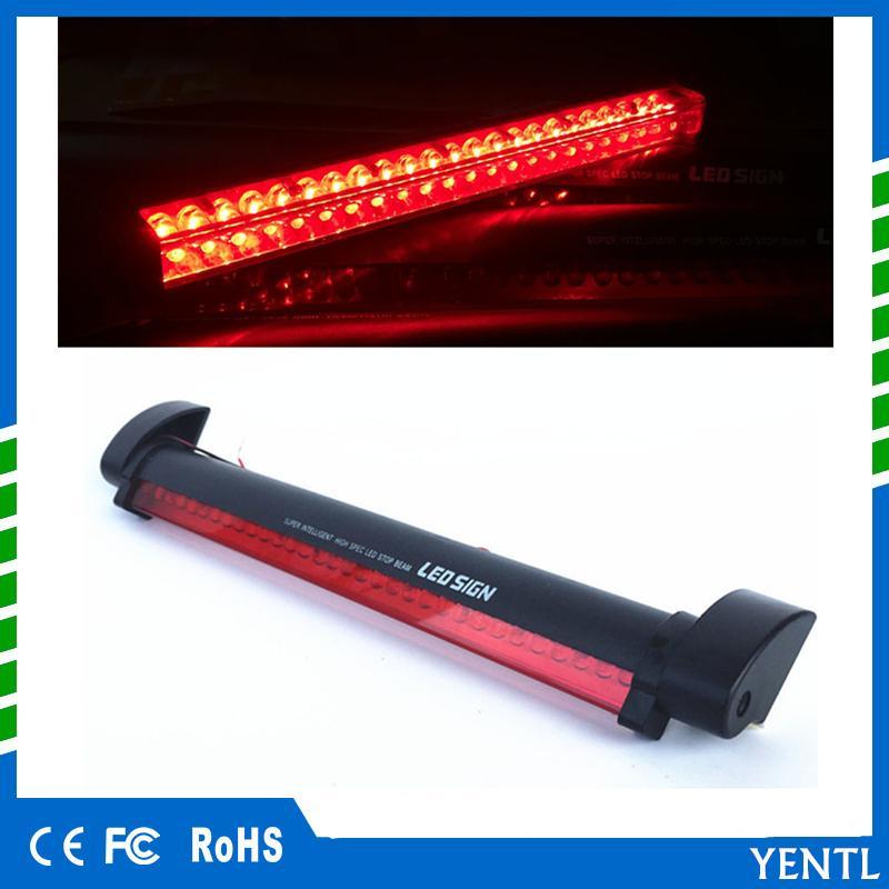 free shipping 12V Universal Red 48 LED Car Styling Third Brake Light Bar  Fog Lamp Truck Stop Tailgate High Mount Rear Roof Warning Light