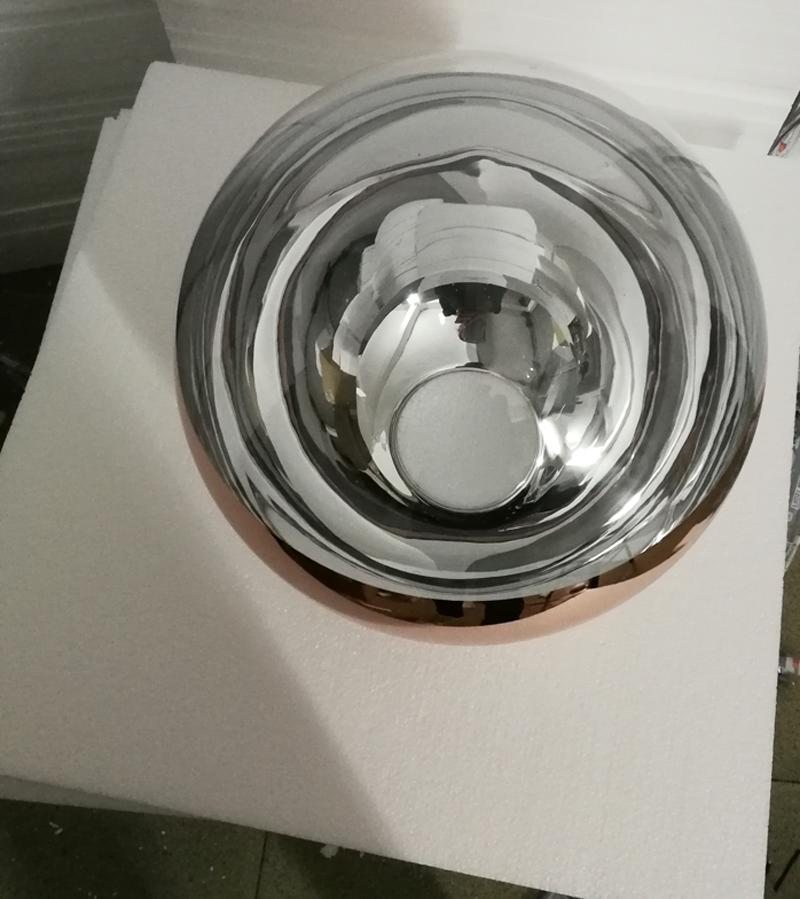 Boule de miroir pendentif lumière salle à manger verre lampe suspension postmoderne minimaliste nordique café bulle verre décoration lampe suspension