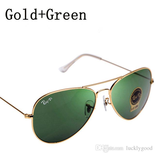 6fe1a553ac Compre Envío De La Gota Gafas De Sol Piloto Hombres Mujeres Lentes De  Cristal Aviador Gafas De Sol Rayado Hombre Mujer Espejo Ovalado Conducción  Gafas De ...