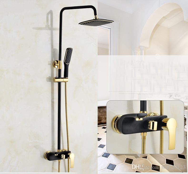 Bathroom Black Oil Rubbed Brass Bathtub Shower Set Wall Mounted - Bathroom faucet and shower sets