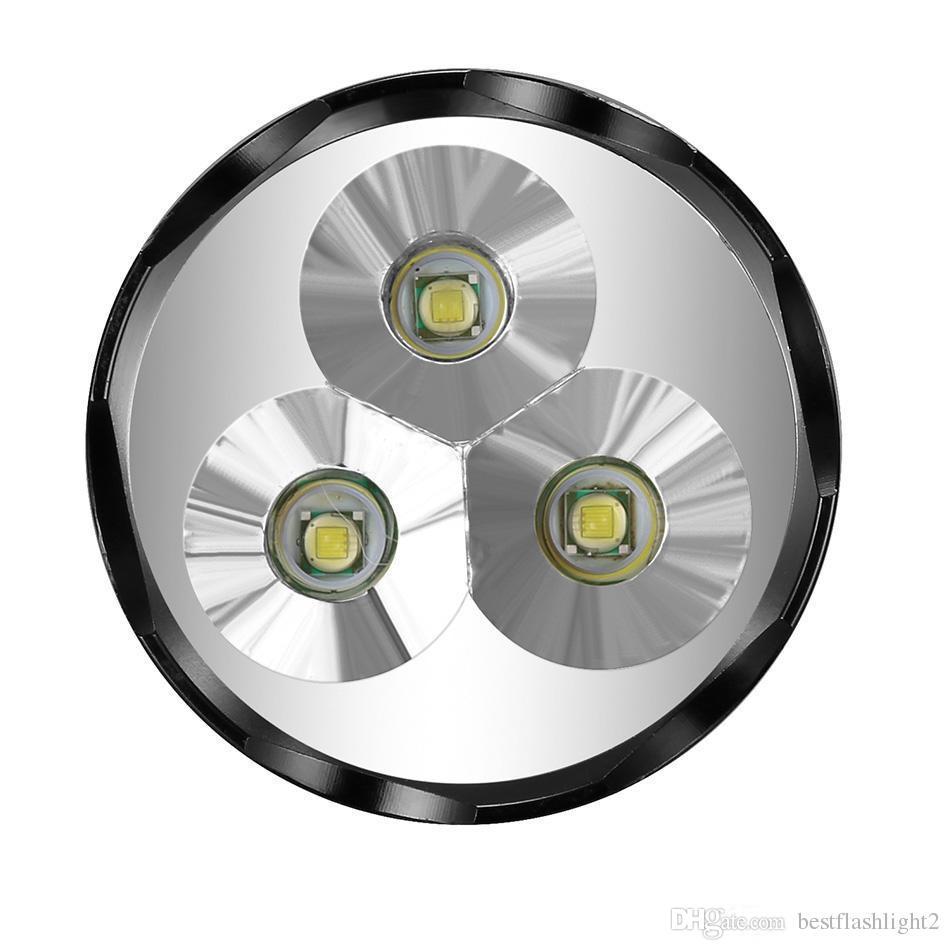 TrustFire TR-3T6 3800 Lümen 3x CREE XML XM-L T6 LED El Feneri Torch 5-Mode meşaleler spotlight açık Ücretsiz Kargo