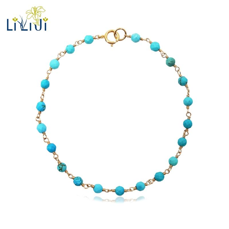 2018 Liiji Unique Turkey Blue Turquoises Approx 3mm Faceted Beads ...