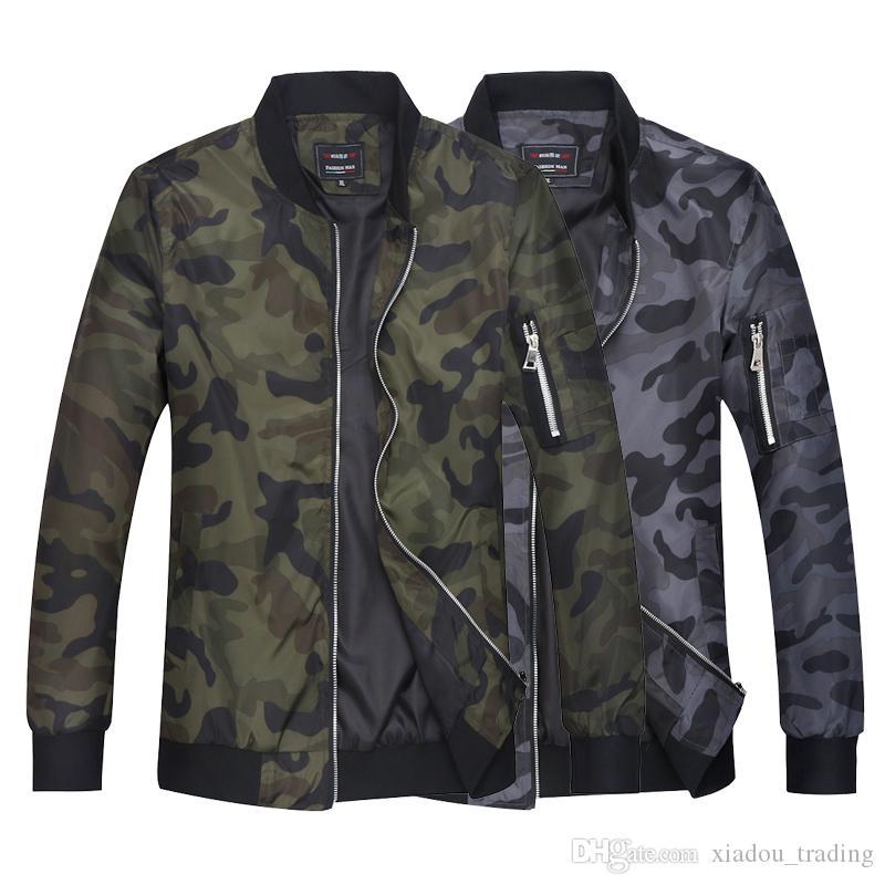 de20586c7252 Wholesale-Men Size M-7XL Camouflage Jacket Long Sleeve Male Outdoors ...