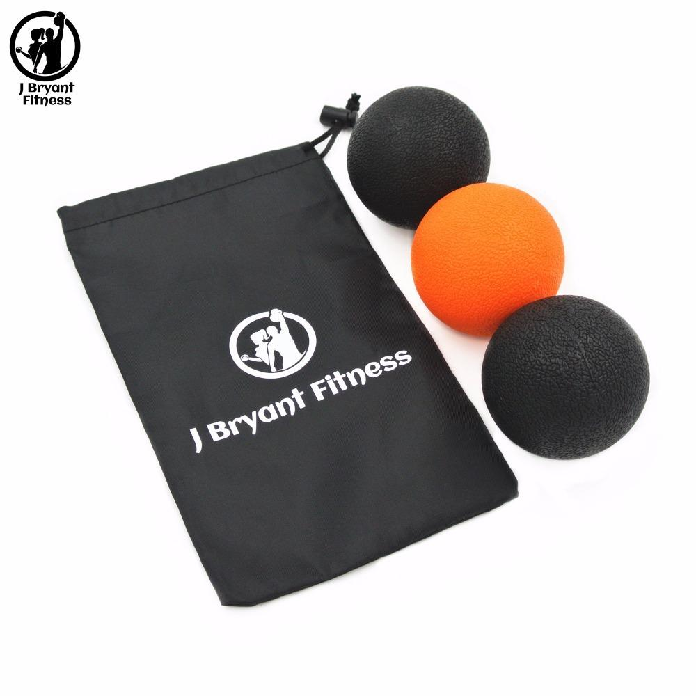 Set of 2 Fitball Massage Lacrosse Ball with Carry Bag Instant Muscle Pain Relief Yoga Trigger Point Treatments Fitness Pain Ball Y1890402