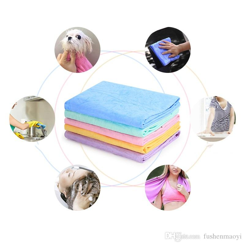 Pet Dog Grooming Bath Towels Multifunctional PVA imitation deerskin super absorbent towels car cloth Sport Sweat towels
