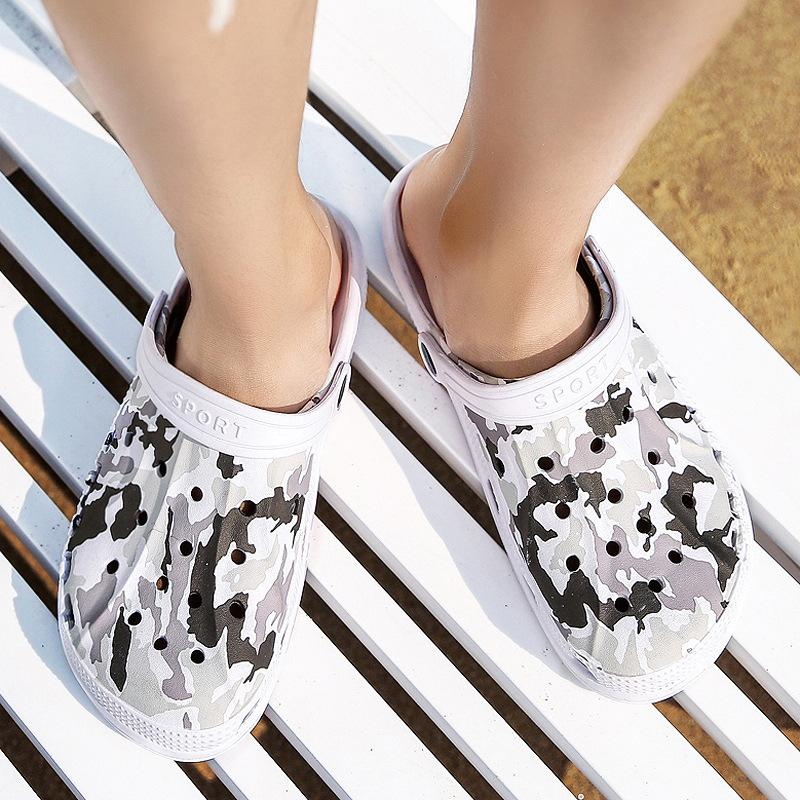 7b5debdcb2b1a Summer Couple Candy Color Breathable Fashion Loose Hole Slippers ...