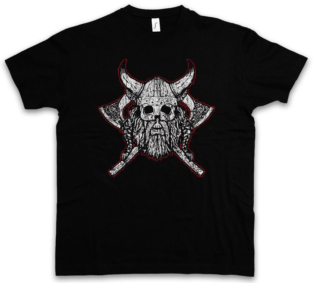 e9d347ee9 Viking Skull Vii T Shirt Runes Valhall Valhalla Odin Thor Norse Vikings  Boat Cool Casual Pride T Shirt Men Unisex New Fashion Hilarious Shirts  Funky T ...