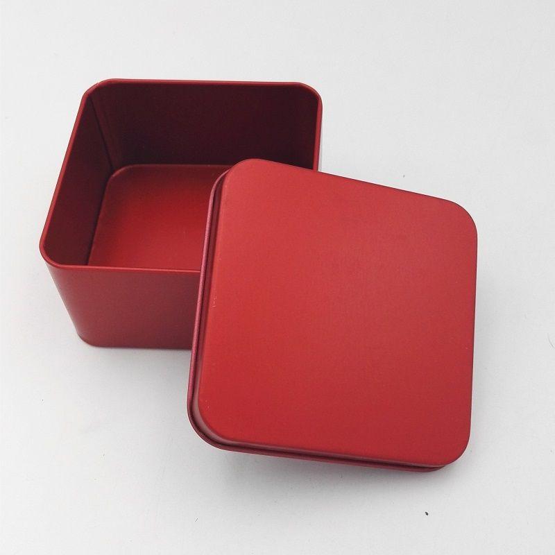 8.5 * 8.5 * 4.5 cm de Alta Qualidade Colorido Tin Caddy Caixa De Lata De Armazenamento De Jóias Caso Quadrado Caixa De Doces De Metal wen5927