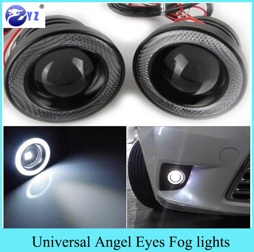 fendinebbia angel eyes  Acquista Car 3.5 3.0 2.5 Pollici COB Angel Eyes Fendinebbia Led Auto ...